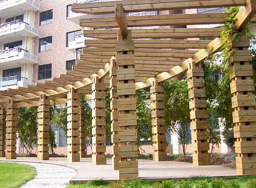 防腐木花架