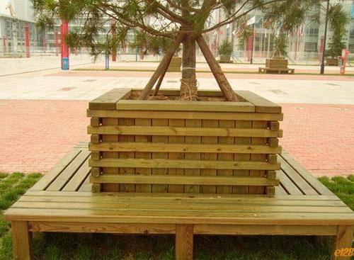 灯塔防腐木树池 花箱
