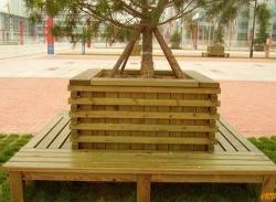 防腐木树池
