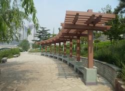 单排立柱防腐木花架
