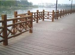 防腐木栏杆2