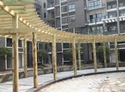 广西防腐木长廊3