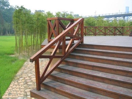 贵州防腐木栏杆2